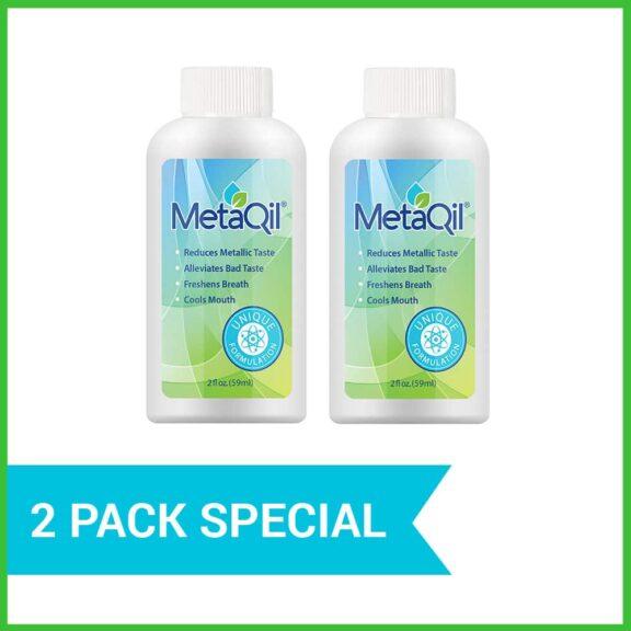 Two 2-oz bottles of MetaQil